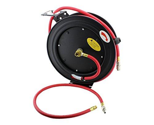 Preisvergleich Produktbild 15m Druckluft-Schlauch-Trommel Druckluftschlauch Automatik Aufroller Schlauchtrommel