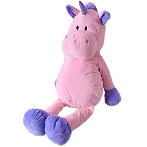 TE-Trend XXL Plüschtier Einhorn Pferd Unicorn Stofftier Kuscheltier 100 cm Deko Mädchen Geschenk rosa lila