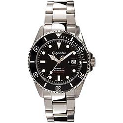Gigandet Automatikuhr Herrenuhr Armbanduhr Sea Ground Uhr mit Edelstahl-Armband Schwarz Silber Taucheruhr Herren Uhren G2-002