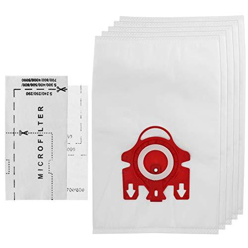 SPARESGO 3D Type FJM Hyclean - Bolsas para aspiradores Miele (5 bolsas y microfiltros de aire)