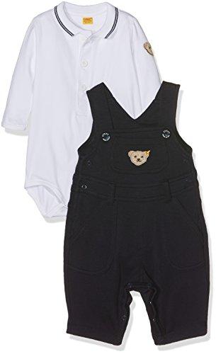 Steiff Baby-Jungen Bekleidungsset 2tlg. Set Latzhose + Body 1/1 Arm, Blau (Marine 3032), 74