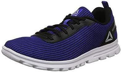Reebok Men's Sweep Runner Lp Blk/Acid Blue Running Shoes-6 UK/India (39 EU)(7 US) (CN7964)