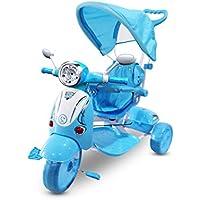 Tricycle poussette à pédales LT854 pour enfants SPECIAL lecteur Mp3 et capot - Bleu