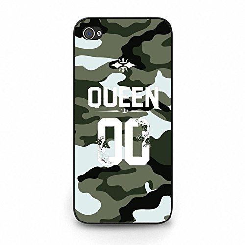 Fashion Camouflage Design King Queen Couple Phone Case Cover Solid Skin Protetive Shell for Iphone 5c King Queen Lovers Classic Color162d