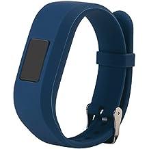 For Vivofit JR.2 Bands, Large Replacement Wristbands for Garmin vivofit JR2, Active Bright Colors Silicone Straps for Garmin vivofit jr. 2, Slate