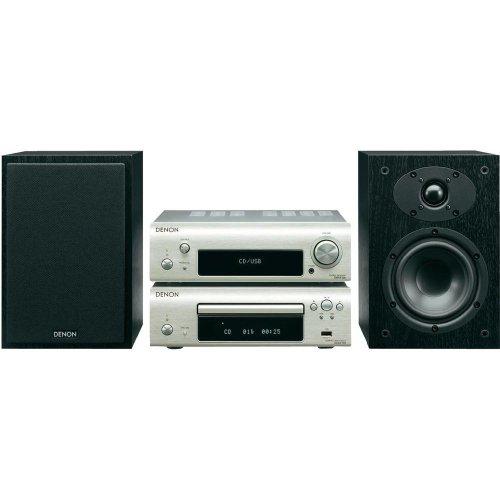 Denon D-F109C Stereo Kompaktanlage (CD, UKW-Tuner, 2x 65 Watt, USB) premium silber/schwarz