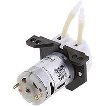 MagiDeal Cabeza Conector de Bomba de Dosificación Miniatura Peristáltica para Laboratorio Arduino - Blanco 12V