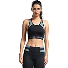 SILIK Sujetador Deportivo Elástico Hueco para Mujer para Fitness Yoga con Almohadillas Desmontables