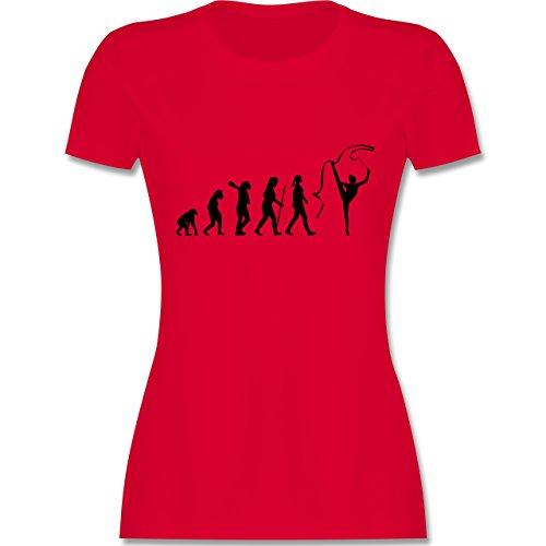 Evolution - Rhythmische Sportgymnastik Evolution - tailliertes Premium T-Shirt mit Rundhalsausschnitt für Damen Rot