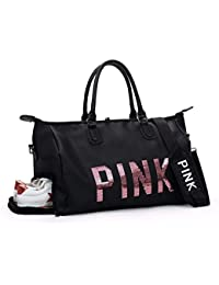 AREO Pink Women Ladies Travel Duffle