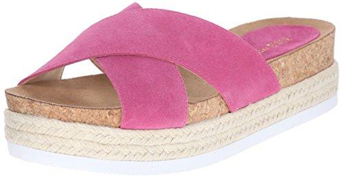 Nine West Amyas Suede Platform Sandal medium pink