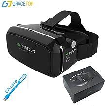Gracetop Oggetto Distanza regolabile VR occhiali, 3D Realtà Virtuale Auricolare per smartphone graduano fra 4.7-5.7 pollici - iPhone 6 6 Plus, Samsung Galaxy S6 ecc.