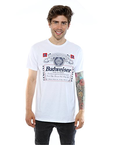 budweiser-herren-label-outline-t-shirt-xx-large-weiss