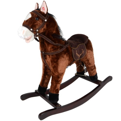 Jolly Ride Brown Rocking Horse Pony With Sound New