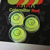 3 x Dosenlibelle - Winzig kleine Wasserwaage mit Luftblase / Mini BullsEye, kreisförmig