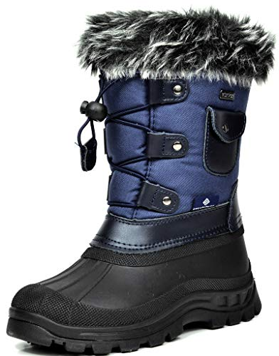 Dream Pairs Boys Girls Child Ksnow Mid Calf Waterproof Winter Snow Boots