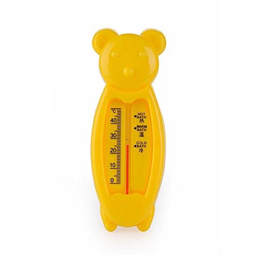 Badethermometer, Isuper 2er Pack Baby Badewanne Thermomete für Sicheres Baden, Niedlicher Bär Badespielzeug (Gelb)