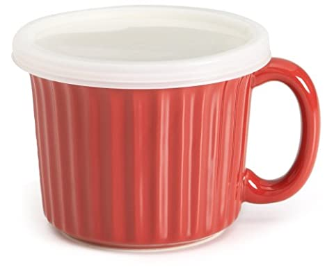 Good Cook Non-Stick Ceramic 450g Soup Dish, Red