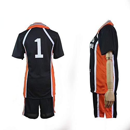 Haikyuu!! Karasuno High School Uniform Jersey No.1 Daichi Sawamura Shirts Cosplay Kostüm ()