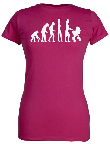 SR - Evolution To A Mama Damen T-Shirt - Mutter T-Shirt Geschenk - Mammageschenk - Mama Geschenk for Mutter, Pink, M
