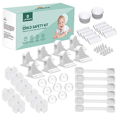 Kindersicherung Steckdosensicherung Schrankschutz Eckenschutz Kantenschutz Schranksicherung Baby Steckdosenschutz