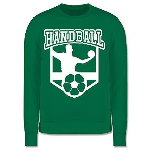 Shirtracer Handball WM 2019 Kinder - Handball Motiv - 12-13 Jahre (152) - Grün - JH030K - Kinder Pullover