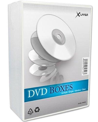 Preisvergleich Produktbild Xlayer DVD Slimline transparent 1Zubehör 10Stück