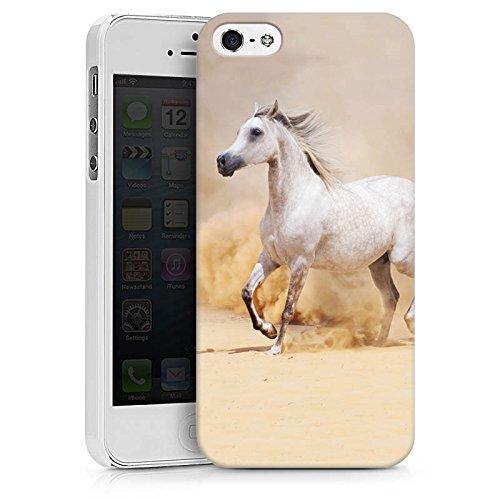 Apple iPhone 5c Tasche Hülle Flip Case Pferd Wüste Horse Hard Case weiß