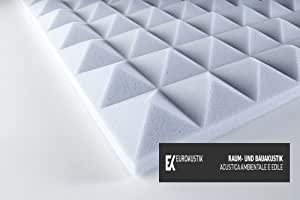mousse acoustique de m lamine basotect pyramidale 30. Black Bedroom Furniture Sets. Home Design Ideas