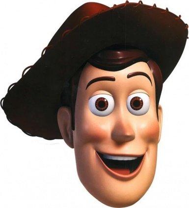 Star Cutouts Bedruckte Gesichtsmaske von (Woody Kostüme)
