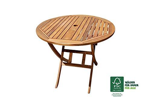 Neu Amazon.de: SAM® Akazie Holz Gartentisch Jasper mit Schirmloch  SQ06