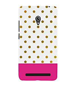 PINK WHITE AND GREEN POLKA DOT PATTERN 3D Hard Polycarbonate Designer Back Case Cover for Asus Zenfone 5 A501CG :: Asus Zenfone 5 A500CG