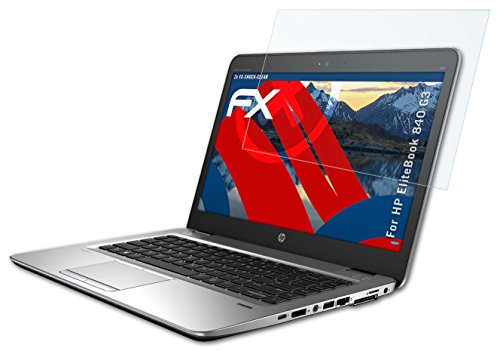 Preisvergleich Produktbild 2 x atFoliX Panzerfolie HP EliteBook 840 G3 Folie - FX-Shock-Clear ultraklar und stoßabsorbierend