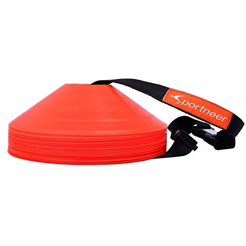 sportneer-51-cm-orange-fussball-training-kegel-field-cone-marker-set-von-25-soccer-disc-kegel-set-mi