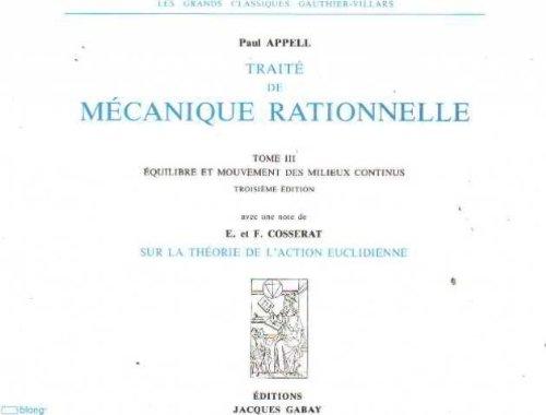 Traité de mécanique rationnelle. 3 volumes