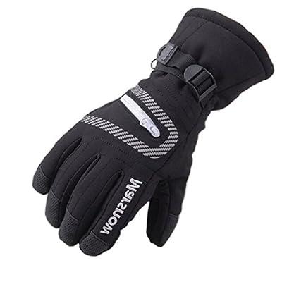 Bwiv Radfahren Ski-Handschuhe Im Freien Sport Winterhandschuhe Wasserdicht für Berufs Skifahren, Bergsteigen
