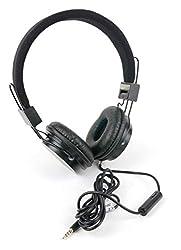 Padded Black Headphones with Button Remote & Microphone for the Gigabyte P55W v5 C35W10-FR|Aorus X5 v7|P15F v2|P15F V2-CF1|P15F v3|P15F v5|P17F v3|P17F v5|P17F|P25K|P25W v2|P25W|P25X v2|P27G v2