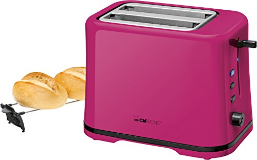 Clatronic TA 3554 Kompakter 2-Scheiben Toaster, Brötchenaufsatz (abnehmbar), Aufwärm, Auftau Schnellstoppfunktion, stufenlos einstellbarer...