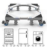 DEWEL Supporto con Ruote per Lavatrice Base Lavatrice Antivibrazione Regolabile Acciaio Inossidabil