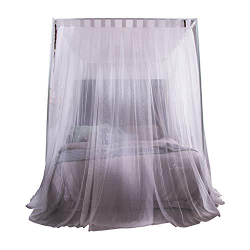 CHANG XU DONG SHOP Moskitonetz Weiß Princess Style 4 Ecken Post Baldachin Bett Vorhang für Mädchen & Erwachsene - 3 Eröffnung - Schlafzimmer Dekoration (größe : 1.8 m (6ft)) (Kleinkind-mädchen-bett-baldachin)