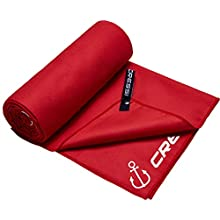 Cressi Fast Drying Beach Towel Anchor/Red, 90 x 180 cm