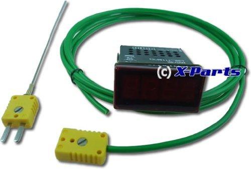 Abgastemperaturanzeige digital mit Fühler 1150°C Sonde