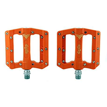 El Gallo Components Fix Pedales para bicicleta color naranja