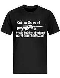 Sniper T-Shirt Lustig fun Shirt Zocker Shooter Gamer Retro 90's Soldat WASD neu