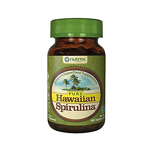 Nutrex Hawaii Hawaiian Spirulina Pacifica Tablet, 500 Mg - 100 per pack -- 3 by Nutrex Hawaii - 100% Hawaiian Spirulina