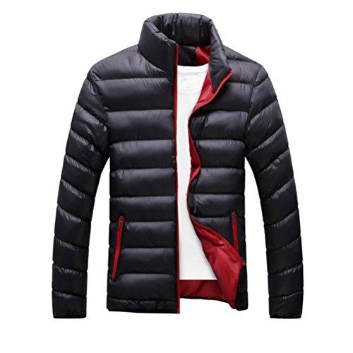 Hombres capa, Amlaiworld Abrigo de abrigo de invierno de Slim Fit (M, Negro)
