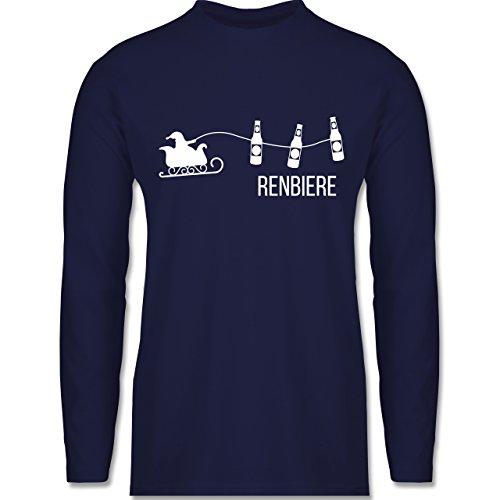 Shirtracer Typisch Männer - Renbiere - Herren Langarmshirt Navy Blau