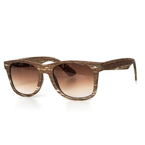 rren oder Damen Unisex Motorradbrille Retro Verspiegelt UV400 CAT 3 CE-Norm gold silber schwarz blau von EYES ON ME, Farbe:Braun Weiss Braun Getönt (Nerd Outfits Für Männer)