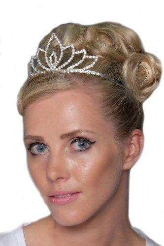 Gorgeous Silver Plated Tiara With Swarovski Crystals - HG0078