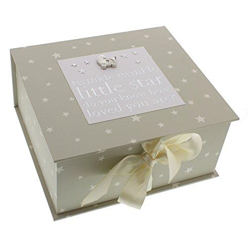 ukgiftstoreonline Bambino By Juliana Baby Gift - Twinkle Twinkle Little Star Keepsake Box - CG1059